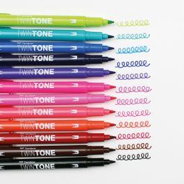 """TOMBOW Doppelfasermaler /""""TwinTone/"""" Pastell Colours 12er Set"""