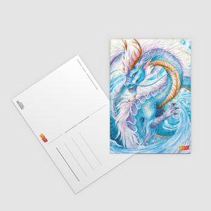 "Postkarte ""Flussdrache"" - Künstlerserie #21"