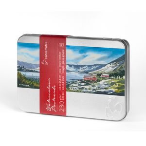 Aquarell-Postkarten Metallbox 230g/m² rau
