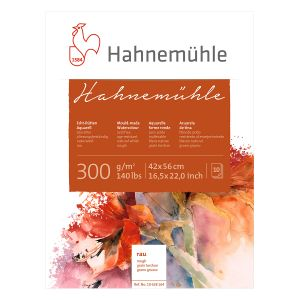 Echt-Bütten Aquarellkarton Hahnemühle  300 g/m², rau