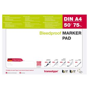 Transotype Bleedproof Marker Pad in DIN A4