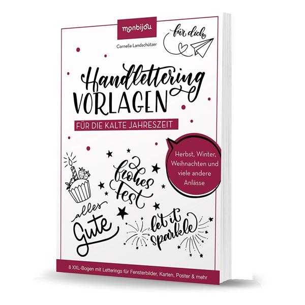 Handlettering für die kalte Jahreszeit: Vorlagen – Cornelia Landschützer